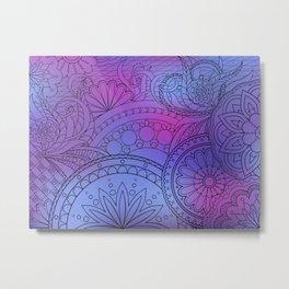 colorful pattern with mandalas Metal Print