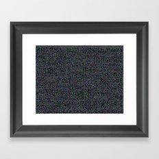 neon_snow Framed Art Print
