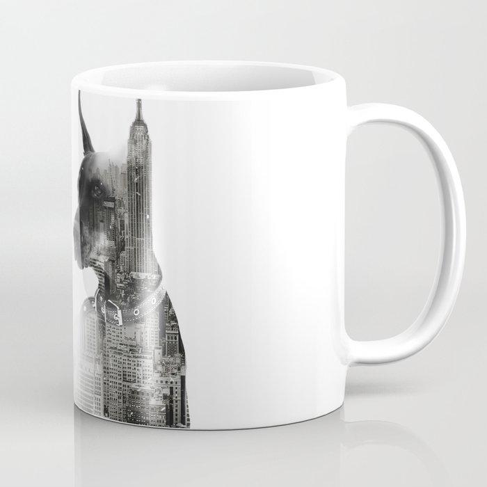 Mug Coffee Yazdesigns Doberman Skyline Nyc Pinscher By T1J3uF5Klc