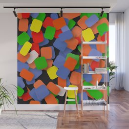 wild color pieces Wall Mural