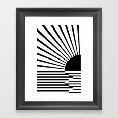 Black rays Framed Art Print