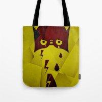 hero Tote Bags featuring Hero by PingPongPrints