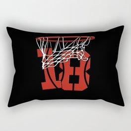 18 Years Basketball Birthday - Bball Rectangular Pillow