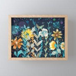 Fall Floral Framed Mini Art Print