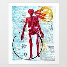 The dead can speak Art Print