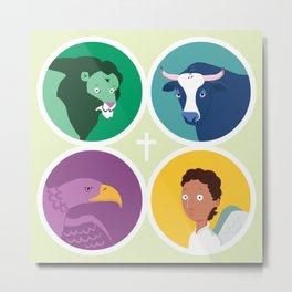The Four Evangelists - their Symbols Metal Print