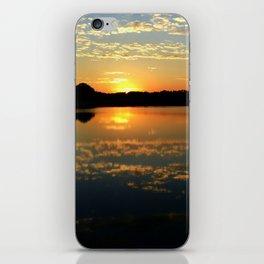 Beautiful Orange Sunset Over Lake iPhone Skin