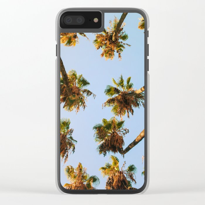Palm trees overload Clear iPhone Case