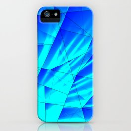 Bright sunshine on celestial and blue triangles of irregular shape. iPhone Case