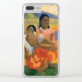 Affordable Art $300,000,000 When Will You Marry by Paul Gauguin Clear iPhone Case
