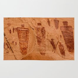 Horseshoe Canyon Great Gallery Group 2 Pictographs Rug