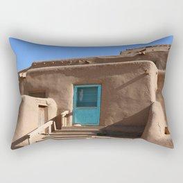 Taos Pueblo  Blue Door Rectangular Pillow