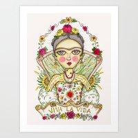 Frida Kahlo Viva la Vida Art Print