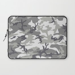 Urban Camo Camouflage Pattern Uniform Military Greyscale Laptop Sleeve