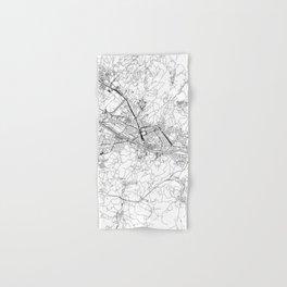 Florence White Map Hand & Bath Towel