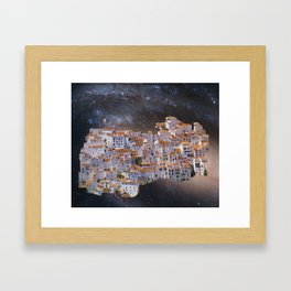 Unfolding Village Framed Art Print