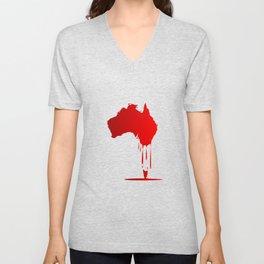 Australia Melting Down Unisex V-Neck