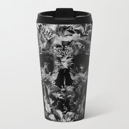 Jungle Skull B&W Metal Travel Mug
