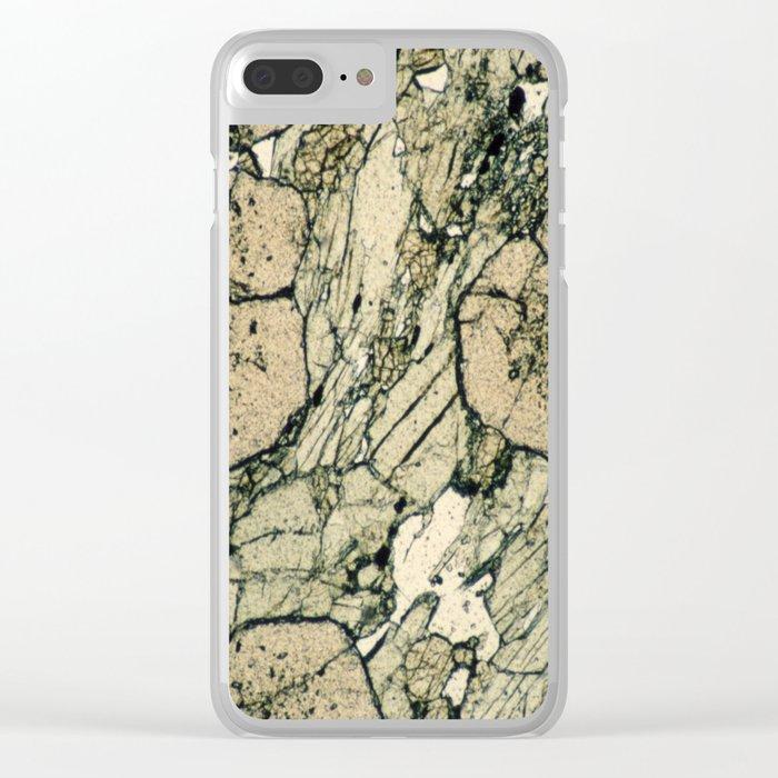 Garnet Crystals Clear iPhone Case
