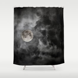 Black Night Shower Curtain