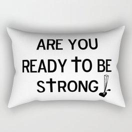 Are You Ready? Rectangular Pillow
