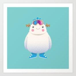 Cute Yeti Art Print