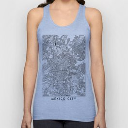 Mexico City White Map Unisex Tank Top