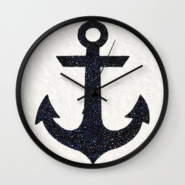 Anchor Silhouette Wall Clock
