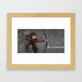 Hunger Games | Cartoon Katniss Framed Art Print