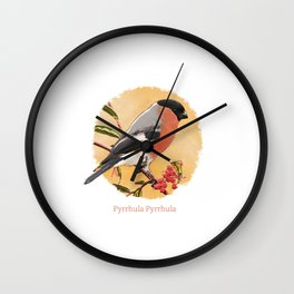 Pyrrhula Pyrrhula Wall Clock