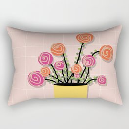 Roses in a Vase Rectangular Pillow