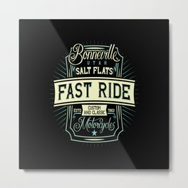 Fast Motorcycle Metal Print