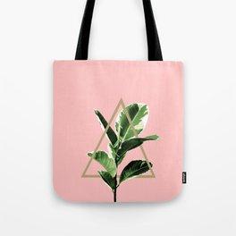 Ficus Elastica Geo Finesse #1 #tropical #foliage #decor #art #society6 Tote Bag