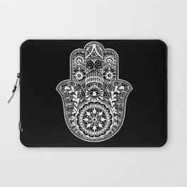 Black and White Hamsa Hand Laptop Sleeve