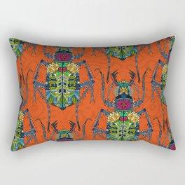 flower beetle orange Rectangular Pillow