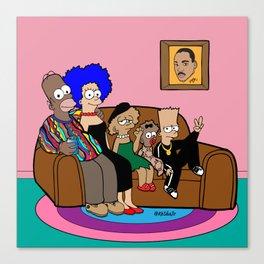 The Simpson Blackout Canvas Print