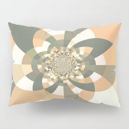 Beige Peach Kaleidoscope Pillow Sham