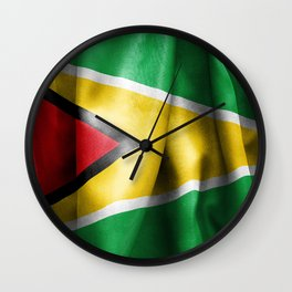 Guyana Flag Wall Clock