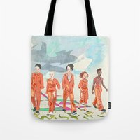misfits Tote Bags featuring Misfits by aNiark