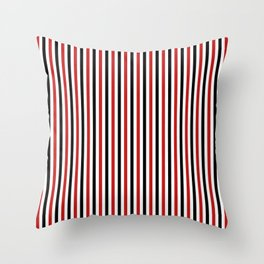 Red and Black Strpes Vertical Throw Pillow