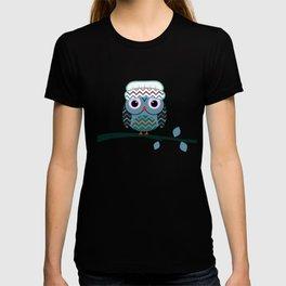 Cute owl sitting on a branch T-shirt