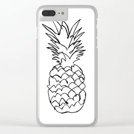 single line pineapple Clear iPhone Case