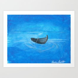 Lapis River Nights Art Print