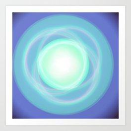Blue sky boreal Art Print