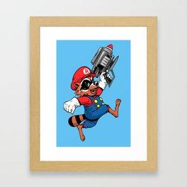 Super Rocket Framed Art Print