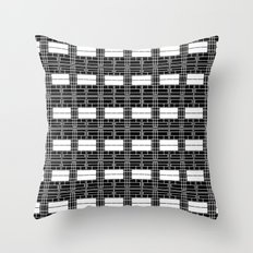 Black and White Brick Throw Pillow