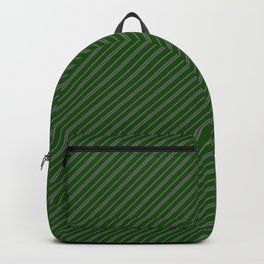 Green and Gray Stripes 2 x 1 Backpack