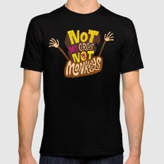Not My Circus, Not My Monkeys X-LARGE Black Mens Fitted Tee