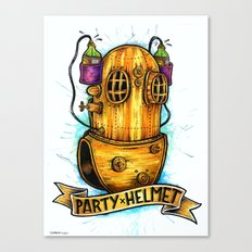 Party Helmet Canvas Print