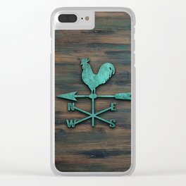 Rustic Weather Vane  (Teal) Clear iPhone Case